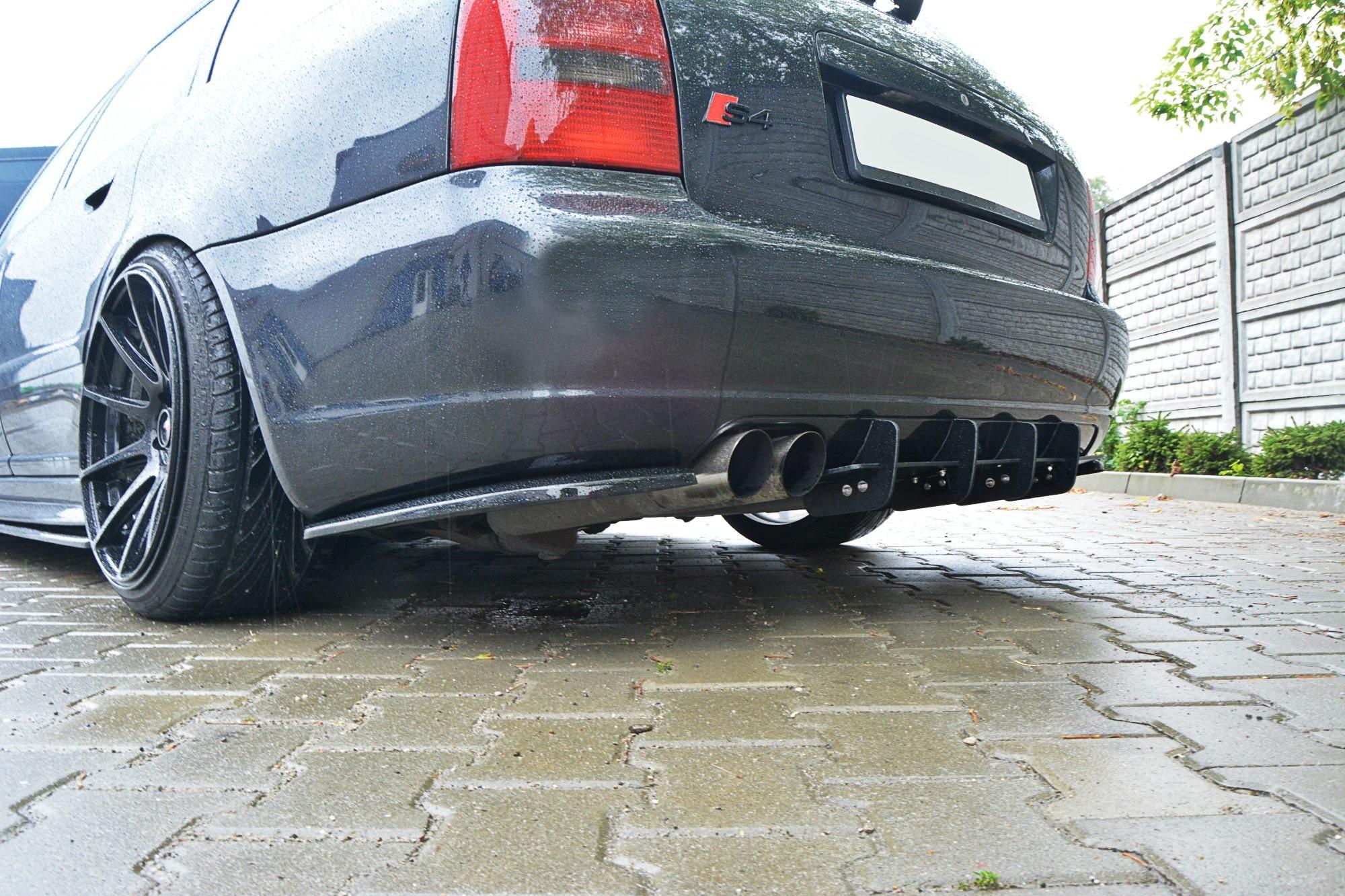 Dyfuzor RACE Tylnego Zderzaka ABS - Audi S4 B5 Avant 1997 ...