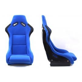 Fotel kubełkowy sportowy EVO Bride Welur Blue - Niebieski