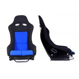 Fotel kubełkowy sportowy GTR Welur Blue - Niebiesko - Czarny