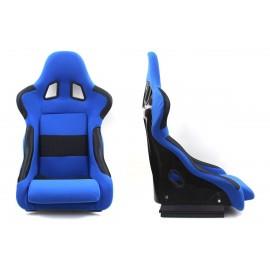 Fotel kubełkowy sportowy RICO Welur Blue - Niebieski