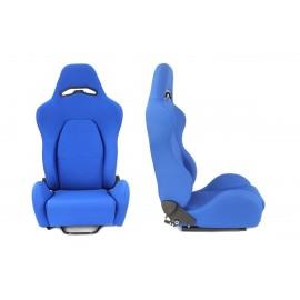 Fotel sportowy DRAGO Welur Blue - Niebieski
