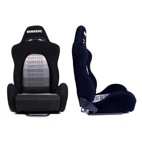Fotel sportowy K700 BRIDE Grey - Czarno-Szary