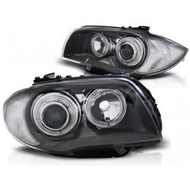 BMW 1 E87 / E81  04-11  GREY Angel Eyes  ringi LED  DEPO LPBMD6