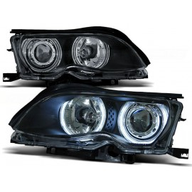 BMW E46 Sedan / Touring 01-05 Angel Eyes LED CCFL BLACK Ringi diodowe LPBM32