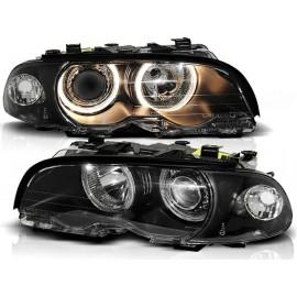 BMW E46 Coupe / Cabrio 98-01 Angel Eyes BLACK Ringi  FK LPBM34