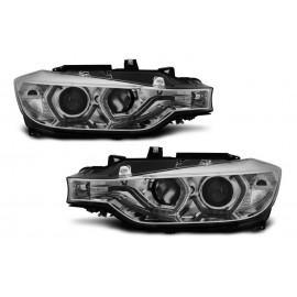 Lampy BMW F30 / F31 CHROM LED DRL do jazdy dziennej LPBMI7