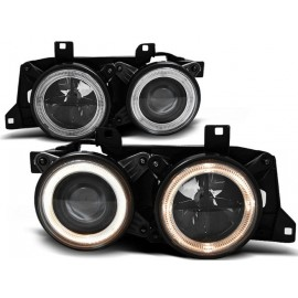 BMW E34 Angel Eyes BLACK - czarne + ringi DEPO LPBM60