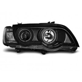 BMW E53 X5 - BLACK Angel Eyes Ringi CCFL + Xenon D2S  LPBMC5