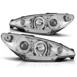 Peugeot 206 98-02 Angel Eyes Chrom - Ringi LPPE06