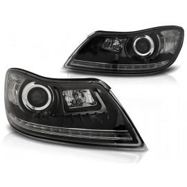 Skoda Octavia 2 09-13 BLACK LED - diodowe LPSK23