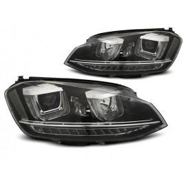 VW Golf 7 - BLACK LED DRL dzienne - z dynamicznym kier. LPVWR1