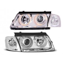 VW Passat B5 Clearglass CHROM Angel Eyes Ringi LPVW25 DEPO