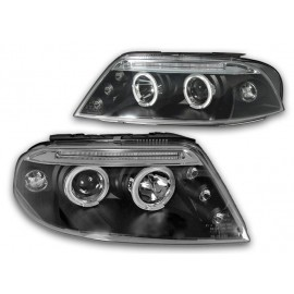 VW Passat B5FL clear Angel Eyes BLACK LED ringi LPVW80