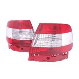 Audi A4 B5 Sedan - Red / White Clear LTAU10  DEPO