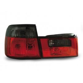 BMW E34 Sedan CLEAR RED / BLACK czerwono-dymione LTBM57