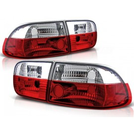 Honda Civic Coupe / Sedan - clearglass Red/White 91-95 2/4d LTHO01