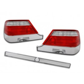 Mercedes S-klasa (W140) clearglass Red White LTME07