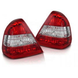 Mercedes C-klasa (W202) clearglass Red/White LTME02