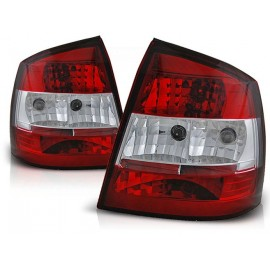 Opel Asta G 3/5d  Clearglass Red / White  LTOP40