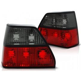 VW Golf 2 clearglass  Red / Black  Czerwono - Czarne  FK LTVW96
