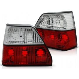 VW Golf 2 clearglass  Red / White  Czerwono - Białe  FK LTVW95