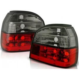 VW Golf 3 clearglass  Red / Black Czerwono - Czarne  LTVW41