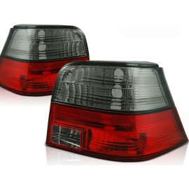 VW Golf 4 clearglass RED /BLACK LTVW85