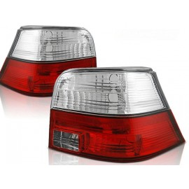 VW Golf 4  clearglass RED / WHITE   LTVW82