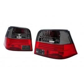 VW Golf 4 clearglass RED BLACK - czerwono / czarne LTVW04 DEPO