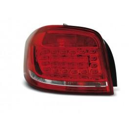 Audi A3 8P 3D Red/White LED diodowe 08-12 DEPO LDAUB6