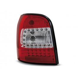Audi A4 B5 Avant 94-01 RED WHITE LED - Czerwono-Białe Diodowe LDAU93