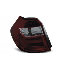 BMW E87 / E81 04-07 Smoked Red LED BAR Diodowe LDBM83