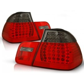 BMW E46 Sedan Clear Red/Black Led diodowe LDBM79