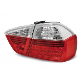 BMW E90 Clear Red/White Led Diodowe LDBM26