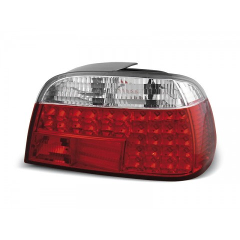BMW E38 Sedan Clear Red / White Led Diodowe LDBM09