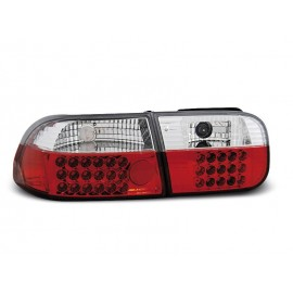 Honda Civic Coupe / Sedan - Red/White LED 91-95 2/4d  LDHO07