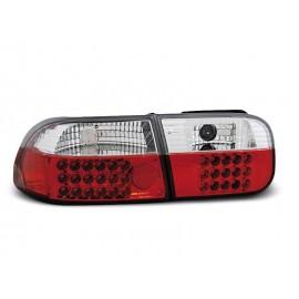Honda Civic Hatchback - Red/White LED 91-95 3d LDHO01