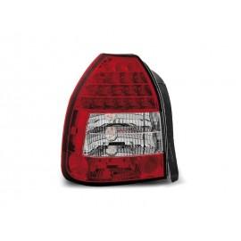 Honda Civic Hatchback - clearglass Red/White LED 95-01 3d  LDHO02