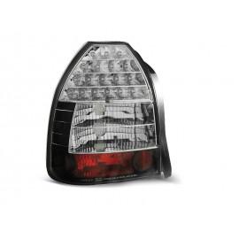 Honda Civic Hatchback - clearglass LED Black Chrom 95-01 3d  LDHO09