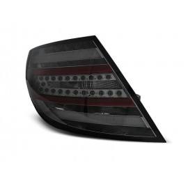 Mercedes C-klasa Sedan (W204) black smoked LED BAR - DIODOWE  LDME65