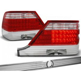 Mercedes S-klasa (W140) clearglass Red White LED diodowe LDME30