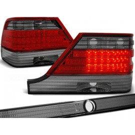 Mercedes S-klasa (W140) clearglass Red Black LED diodowe LDME31