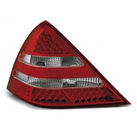 Mercedes SLK (R170) Clearglass Red / White LED diodowe LDME12