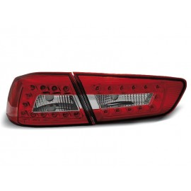 Mitsubishi Lancer 8 Sedan - Red White LED diodowe LDMI04