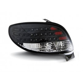 Peugeot 206 clearglass LED BLACK - czarne diodowe LDPE06