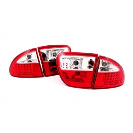 Seat Leon 99-04 clearglass RED WHITE LED LDSE03