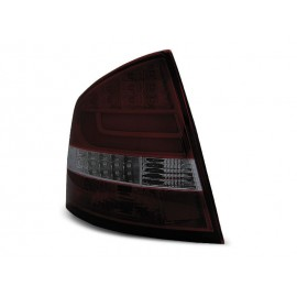 Skoda Octavia II 5D 04- Smoked Red LED BAR - diodowe LDSK12