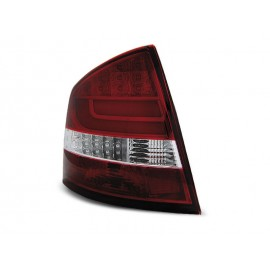 Skoda Octavia II 5D 04- Red / White LED BAR - diodowe LDSK11