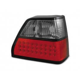 VW Golf 2 clear LED Red / Black Czerwono-Czarne diodowe LDVW34