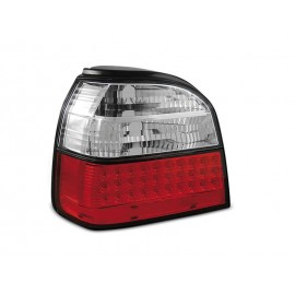 VW Golf 3  - clearglass RED WHITE LED - diodowe LDVW35